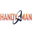 handyman symbol spanner and hammer vector image vector image