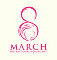 international womens day gretting card vector image vector image