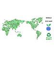 leaf green composition world map vector image