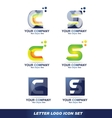 Letter c s logo icon set vector image vector image