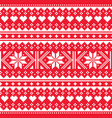 love valentines day knit seamless pattern vector image vector image