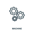 machine icon outline style thin line creative vector image vector image