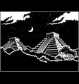 mayan pyramids at night vector image vector image