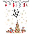 merry christmas congratulation card present socks vector image vector image