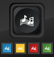 musical note music ringtone icon symbol Set of vector image