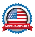 New Hampshire and USA flag badge vector image