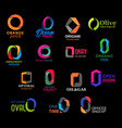 o icons art company creative corporate identity vector image