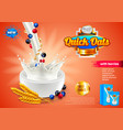 oatmeal ads 3d and packaging vector image