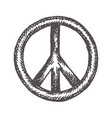 peace symbol icon friendship pacifism hand vector image