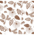 pinecones color seamless pattern vector image