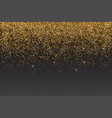realistic gold glitter particles effect vector image vector image