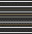 road asphalt highway street marking horizontal vector image vector image