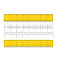 school measuring ruler with centimeters and inches vector image