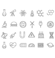 Science black icons set vector image vector image