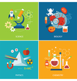 science concept physics chemistrybiology flat desi vector image