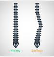scoliosis logo icon design medical vector image