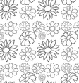 Seamless flowers in draft vector image vector image