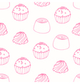 Seamless pattern with outline candies vector image vector image