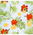 seamless texture christmas and new year vector image vector image