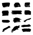 set brush strokes isolated on white vector image vector image