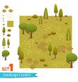 set of autumn forest landscape vector image