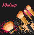 set of brushes for make up background for catalog vector image