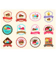 set of cute sweet bakery badge label and logo vector image