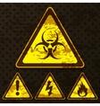 Set of grunge warning signs