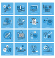 set of thin line concept icons vector image vector image