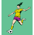 Soccer Football Female Player vector image vector image