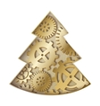 Steampunk christmas tree vector image