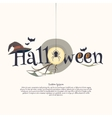 Sticker and poster Happy Halloween vector image