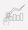 stock decrease icon line element vector image vector image