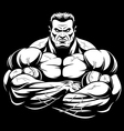 strict coach bodybuilding vector image vector image