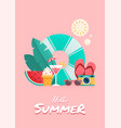 summer time colorful flyer design vector image vector image