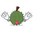tongue out durian mascot cartoon style vector image vector image