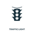 traffic light icon in flat style icon vector image vector image
