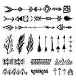 Tribal doodle elements vector image