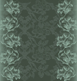 vintage with Flowers lily border gray vector image