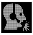 white halftone operator speech icon vector image vector image