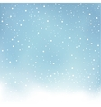 winter snowfall blue background vector image