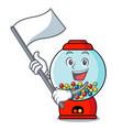 with flag gumball machine mascot cartoon vector image