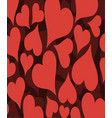 background with ornament in heart vector image