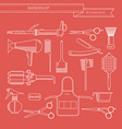 Barber or hairdresser accessories vector image