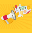 flat design stylish megaphone with cloud of vector image