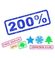 200 Percent Rubber Stamp vector image
