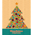Abstract Christmas tree greeting card vector image