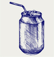 Aluminum can vector image vector image