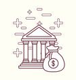 bank building and money design vector image vector image