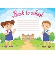 banner back to school boy girl pupil lettering vector image vector image